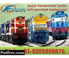 Get Low Fare Train Ambulance in Ranchi with Expert Medical Team by falcon Emergency