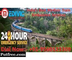 Medivic Aviation Train Ambulance from Patna to Mumbai - Greatest and Finest Service