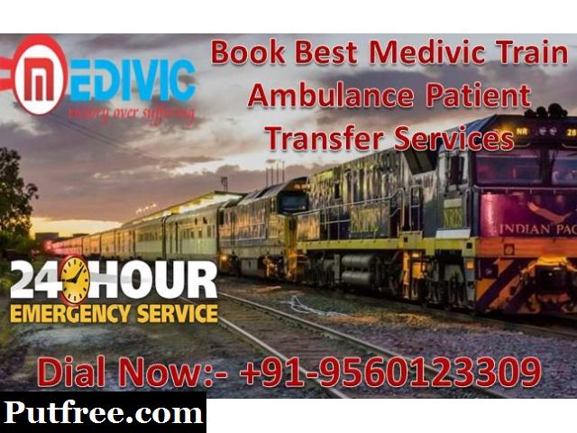 Medivic Aviation Train Ambulance in Kolkata - Highly Developed Supervision