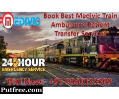 Medivic Aviation Train Ambulance in Kolkata - Highly Developed Supervision