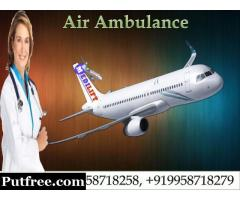 Credible Air Ambulance Services in Guwahati by Medilift Ambulance