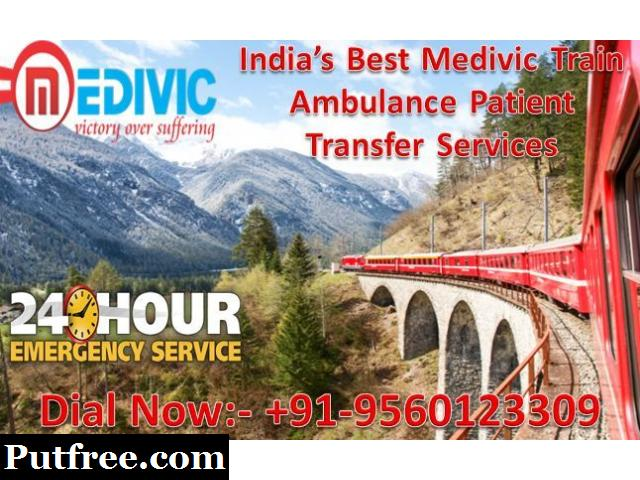 Medivic Aviation Train Ambulance from Lucknow to Delhi - Medical Evacuation Amenities
