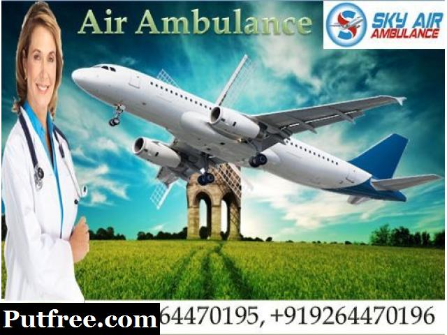Take Air Ambulance Services in Varanasi with Medical Team by SKY Ambulance