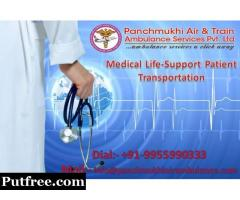Panchmukhi Train Ambulance from Delhi - ICU Facility without Charging Any Extra Money