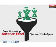 Advance Excel Tips and Techniques - Free Workshop 17th Mar,18