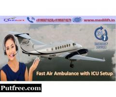Book ICU Facility Air Ambulance in Delhi with ICU Setup