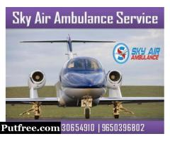 Take Reliable Patient Transfer Air Ambulance in Ranchi by SKY