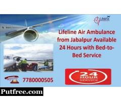Get Emergency Air Ambulance @ 7780000505 Call Lifeline Air Ambulance in Jabalpur