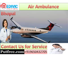 Affordable Air Ambulance in Bhopal by Medivic Aviation with Expert Medical Team