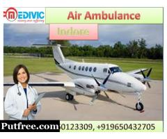 Take Best Air Ambulance in Indore with Medical Team by Medivic Aviation