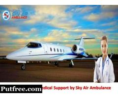 Book Urgently Sky Air Ambulance Service in Bangalore with Medical Staff