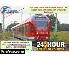 Get Amazing and Low Budget Train Ambulance from Kolkata to Delhi by Falcon Emergency