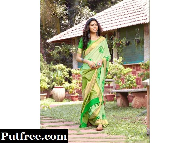 Get Graceful and stylish traditional look in Jute Silk Sarees