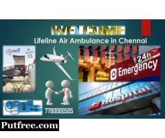 Shift Ill patient Anywhere by Lifeline Air Ambulance in Chennai