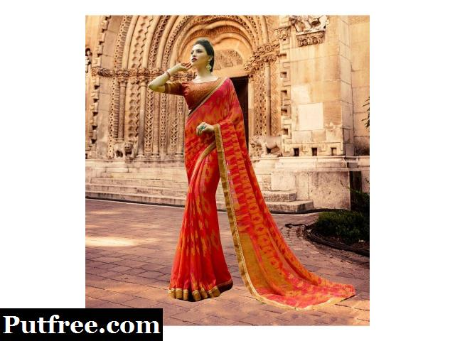 Shop stylish Brasso sarees collection from Mirraw for all occasions