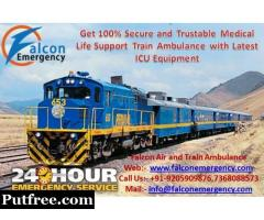 Get Benefit of Superfast Train Ambulance from Varanasi to Delhi by Falcon Emergency