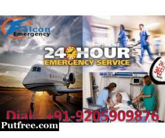 Get Best Medical Air Ambulance Service in Jaipur- Falcon Emergency