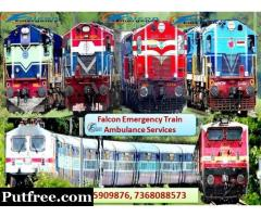 Get Falcon Train Ambulance in Kolkata with Complete Life Support System