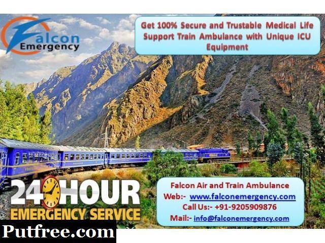 Get Falcon Emergency Train Ambulance Service in Chennai with Full Medical Setup