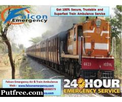 Get Falcon Train Ambulance Service in Allahabad at Low Cost with all ICU Tools