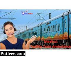 Get Medilift Train Ambulance Services in Kolkata with Amazing ICU Facilities