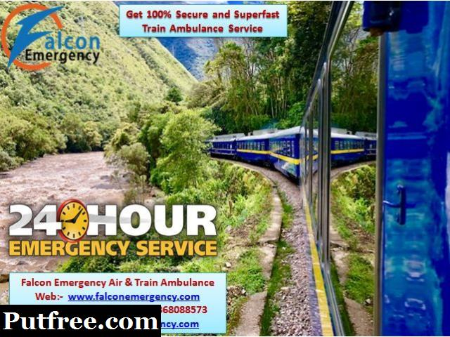 Get Falcon Train Ambulance Service from Raipur for Reliable Services
