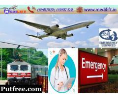 Get Medilift Air Ambulance Service in Kolkata at Low Budget with Medical Team