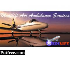 Get Medilift Charter Air Ambulance in Kolkata for Patient Transfer with Medical Team
