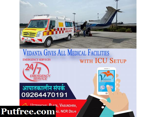 Vedanta Air Ambulance Services in Bhopal is Available Now at Low Cost