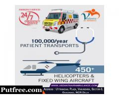 Vedanta Air Ambulance Services in Allahabad Available Now