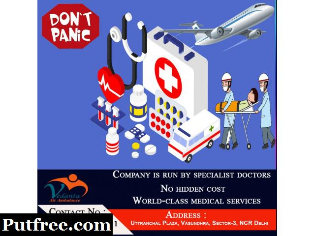 Vedanta Air Ambulance Services in Ahmadabad at Low Cost