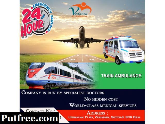 Vedanta Air Ambulance Service in Amritsar at Low Cost