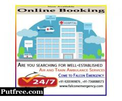 Get Train Ambulance Services in Kolkata with ICU facility - Falcon Emergency