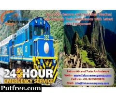 Get Falcon Emergency Train Ambulance Services in Varanasi for Serious Patient Transfer
