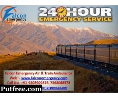 Get Falcon Emergency Train Ambulance Services in Lucknow with the All ICU Facility