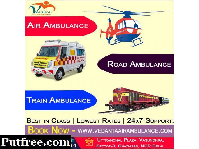 Vedanta Air Ambulance Services in Vellore provides World Class Medical Transport Facility