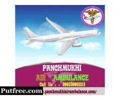 Different kinds of facilities in Panchmukhi Air Ambulance from Mumbai