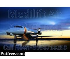 Get Most Trustable Air Ambulance in Dibrugarh with Medical Team - Medilift