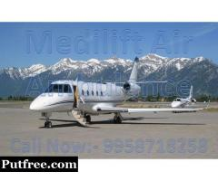 Get Best Charter Air Ambulance Service in Bagdogra by Medilift