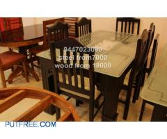 New steel and wooden dining table set 7000, 18000