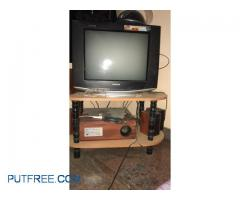 Tv with music system