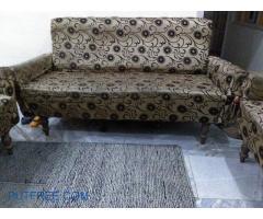 Golden and brown colour designer sofa set