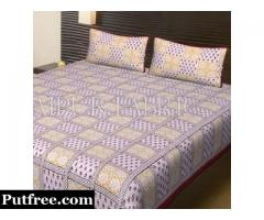 Buy Online Block Printed Handmade Bed sheets
