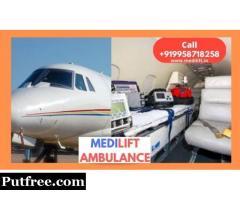 Economical Medilift Air Ambulance Service in Guwahati
