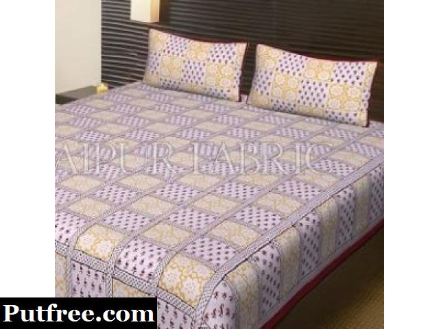 Purchase Online Block Print Bed Sheets