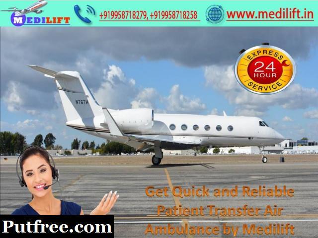 Fast Medilift Air Ambulance in Varanasi