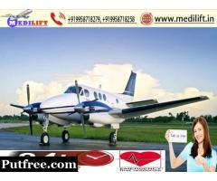 Low Price Medilift Air Ambulance Service in Raipur