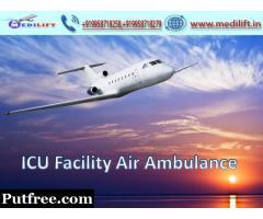24X7 Medilift Air Ambulance Service in Raigarh