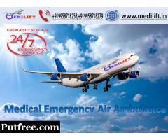 ICU Facility Medilift Air Ambulance Service in Silchar