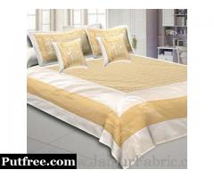 Chanderi Silk Bed Sheets At Best Price